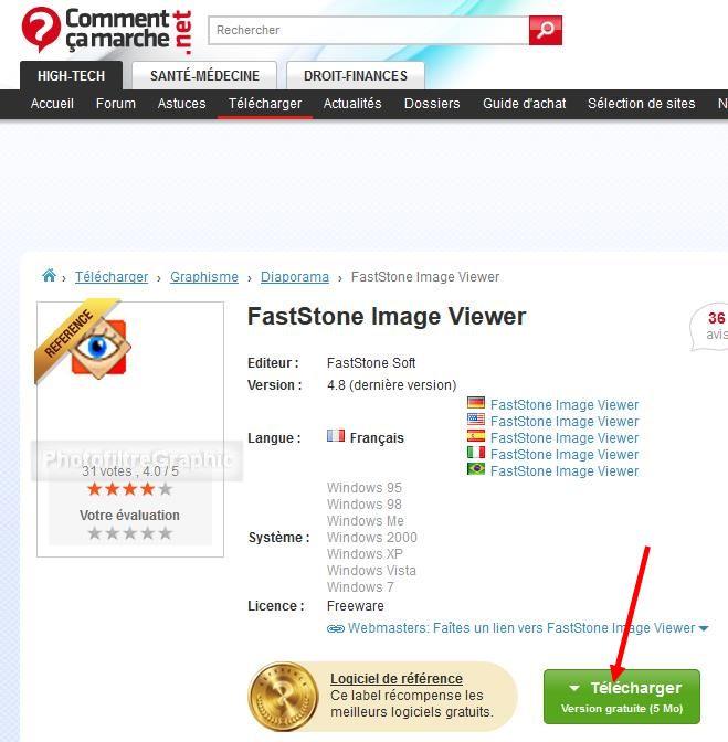 <b>FastStone</b> <b>Image</b> <b>Viewer</b> - Télécharger